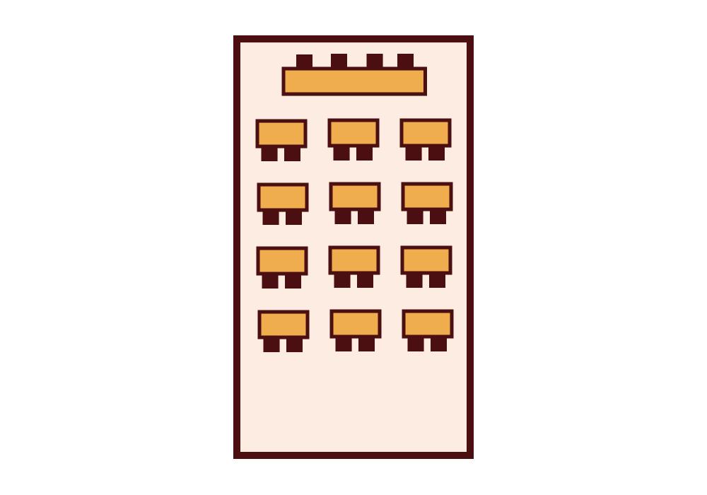Granada Hotel Kecskemét - VIP terem - Iskolapados