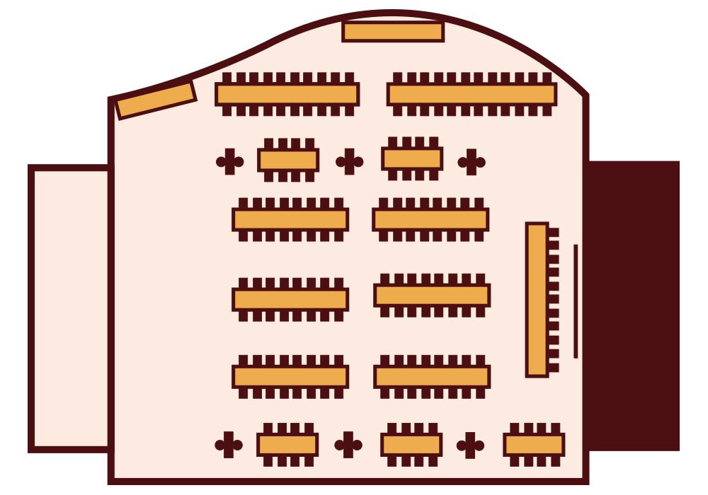 Granada Hotel Kecskemét - Panoráma terem - Sorasztalos