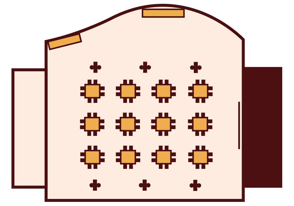 Granada Hotel Kecskemét - Panoráma terem - Szigetes
