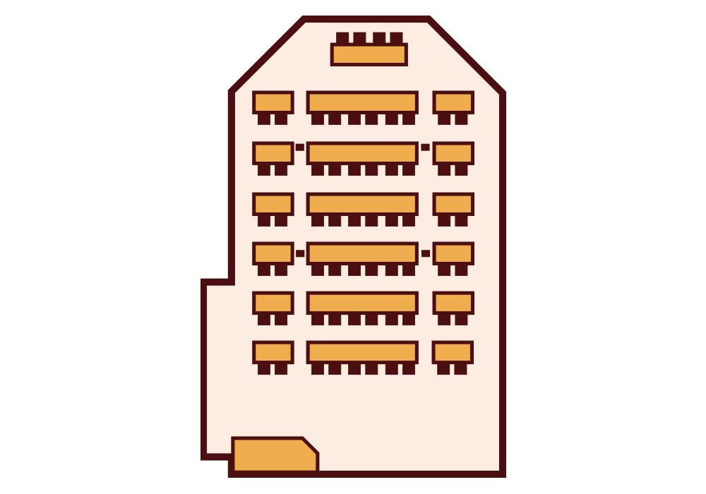 Granada Hotel Kecskemét - Sárga terem - Iskolapados