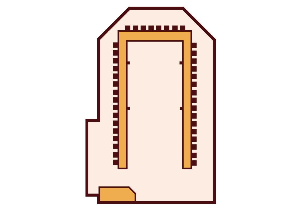Granada Hotel Kecskemét - Sárga terem - U-alak